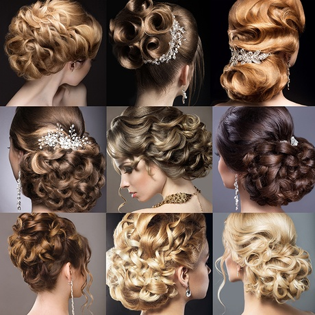 Collection of wedding hairstyles. Beautiful girls. Beauty hair.